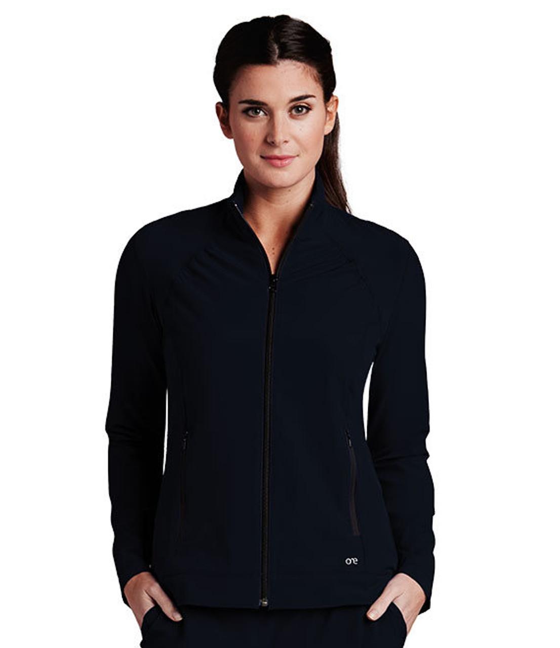 (5405) Barco One Scrubs 2 Pocket Crew Neck Zip Front Scrub Jacket