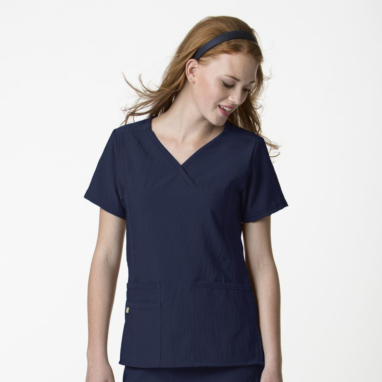 (6414) WonderWink Four-Stretch Scrubs - Y-Neck Top