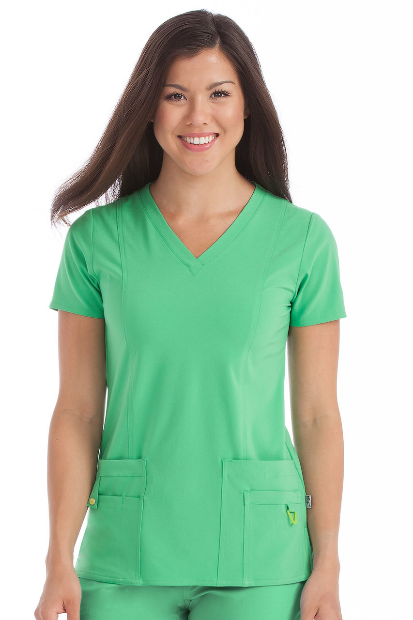 b439f7612d8 8408 Med Couture Activate Scrubs - V-Neck In-Motion Classic Scrub ...
