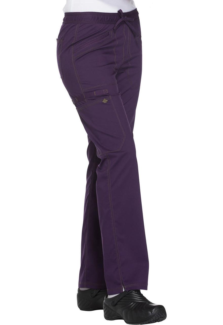 (DK106P) Dickies Essence Mid Rise Straight Leg Drawstring Pant (Petite)