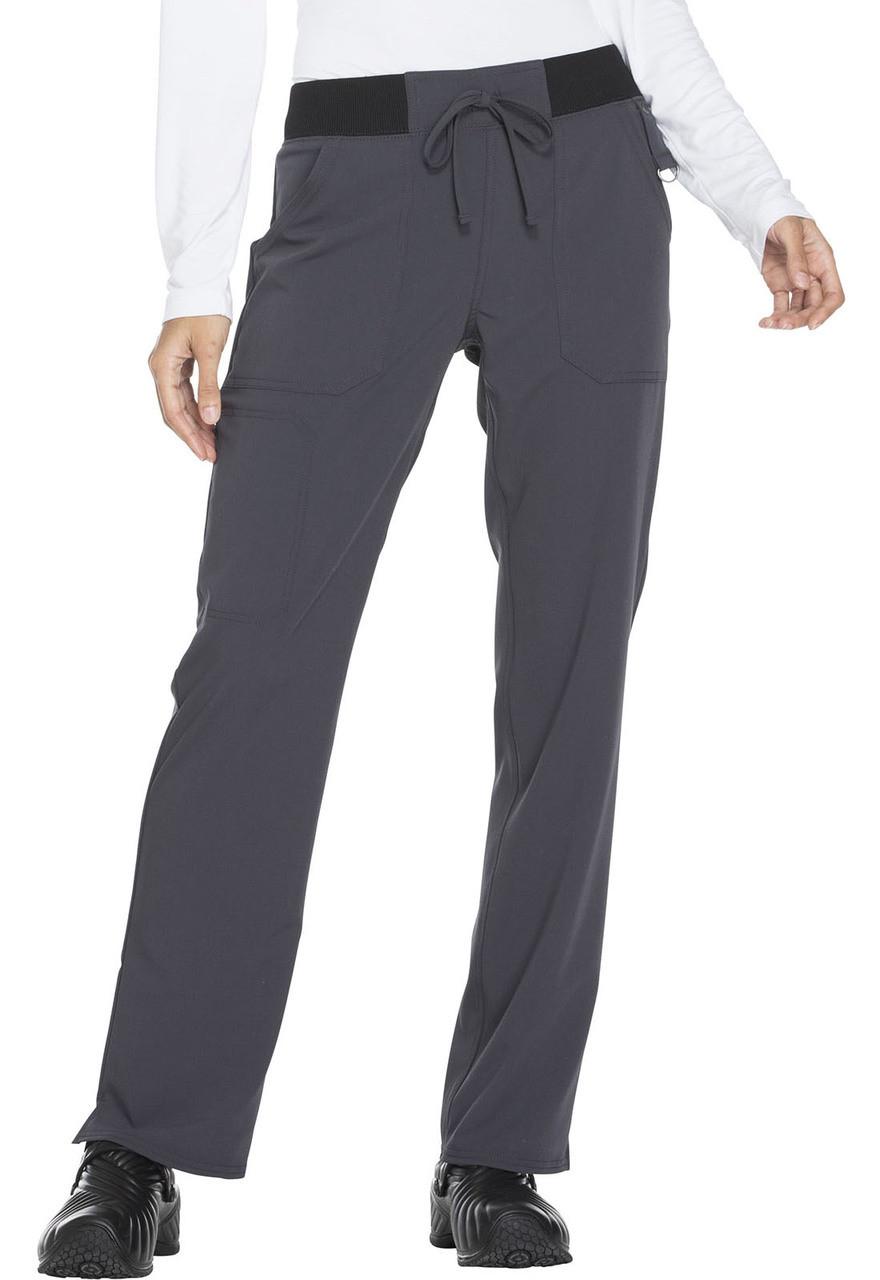 (DK112) Dickies Xtreme Stretch Mid Rise Straight Leg Drawstring Pant