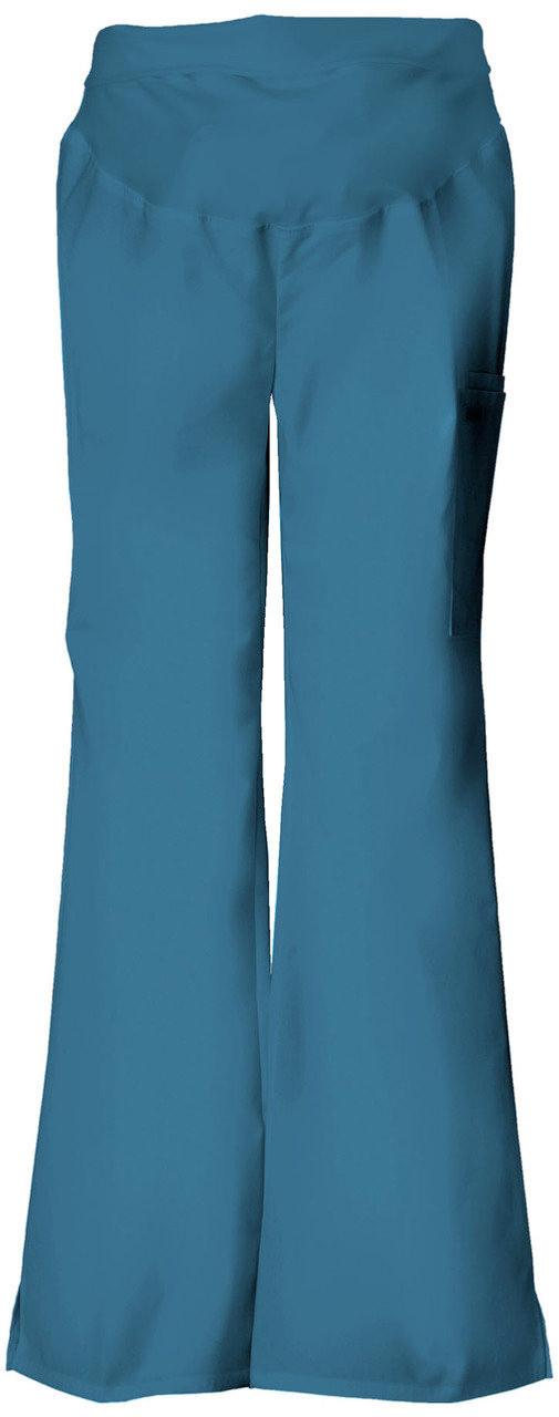 Red Cherokee Scrubs Flexibles Maternity Knit Waist Pull On Pants 2092 REDB