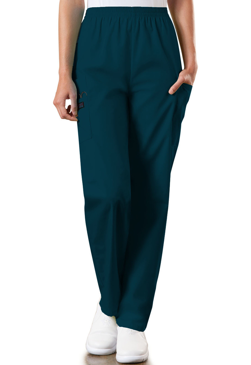 c46f687bf30 (4200P) Cherokee Workwear Scrubs Originals - Natural Rise Tapered Pull-On Cargo  Pant ...