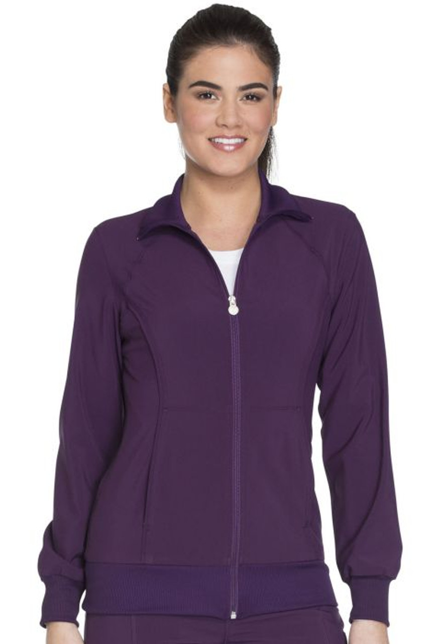 (4315) Cherokee Workwear Scrubs Core Stretch Zip Front Warm-Up Jacket