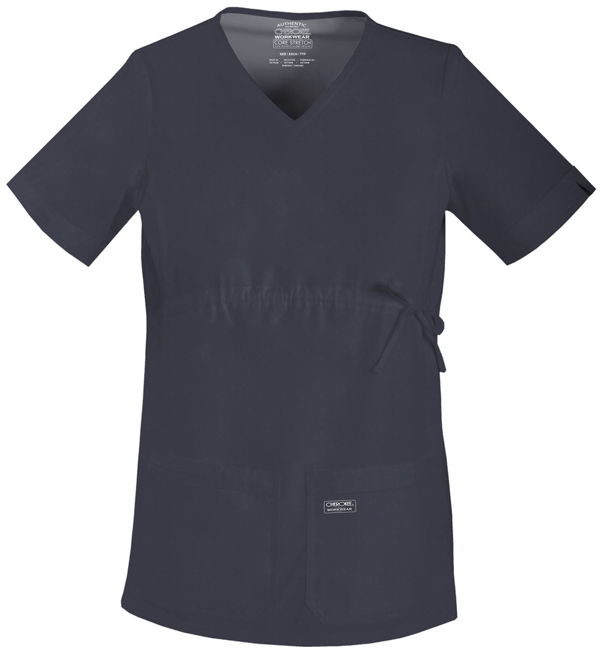 d530a69958a (4708) Cherokee Workwear Scrubs Core Stretch - Maternity V-Neck Knit Panel  Top ...