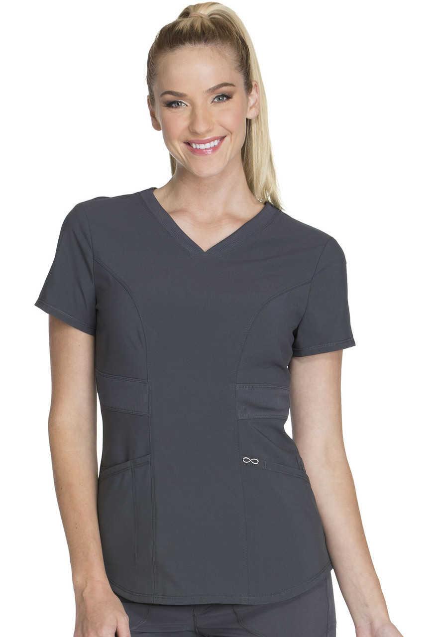 (CK623A) Infinity by Cherokee Scrubs V-Neck Top