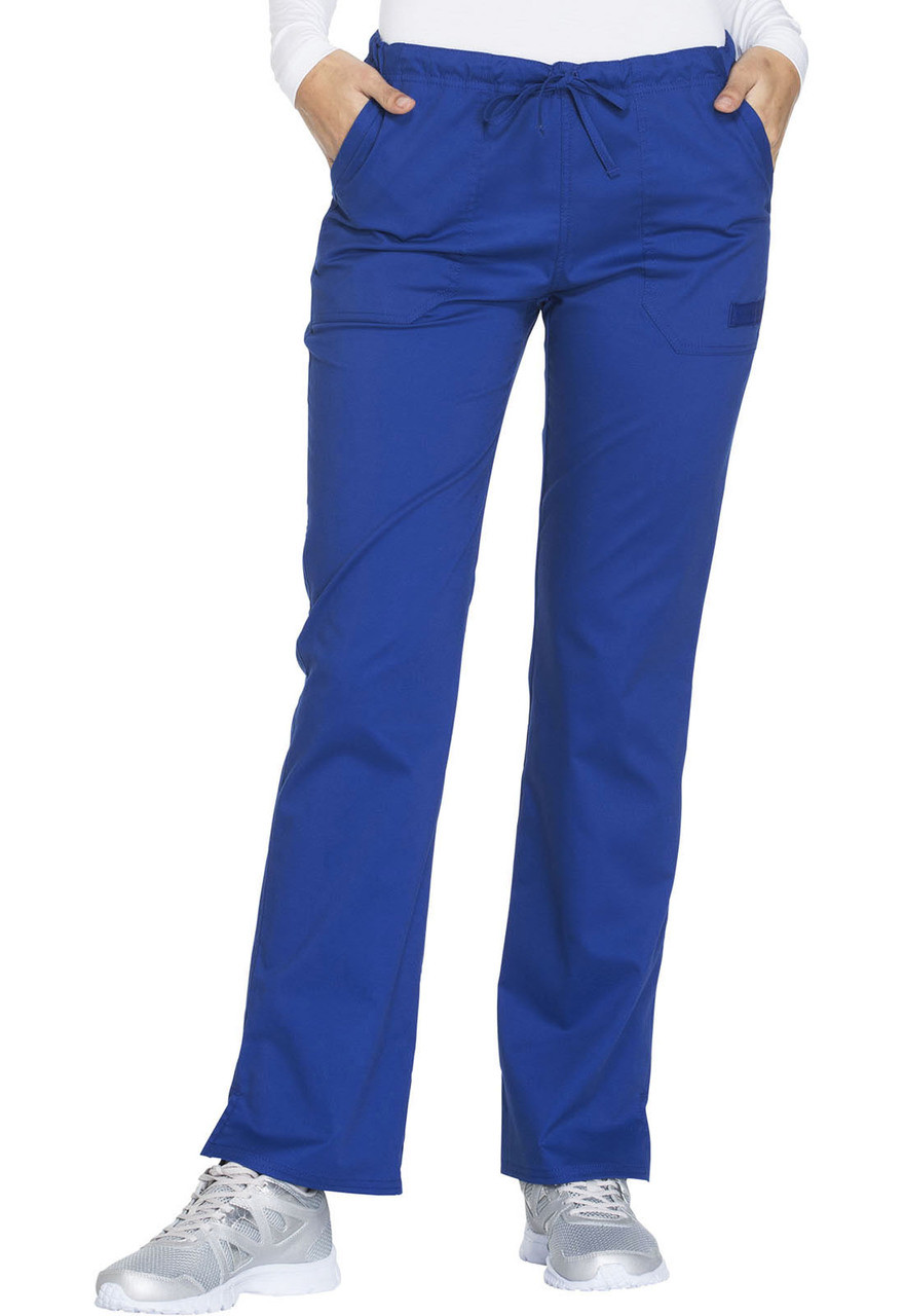 7ca3fc9def9 (WW130P) Cherokee Workwear Scrubs Core Stretch - WW130 Mid Rise Straight  Leg Drawstring Pant ...