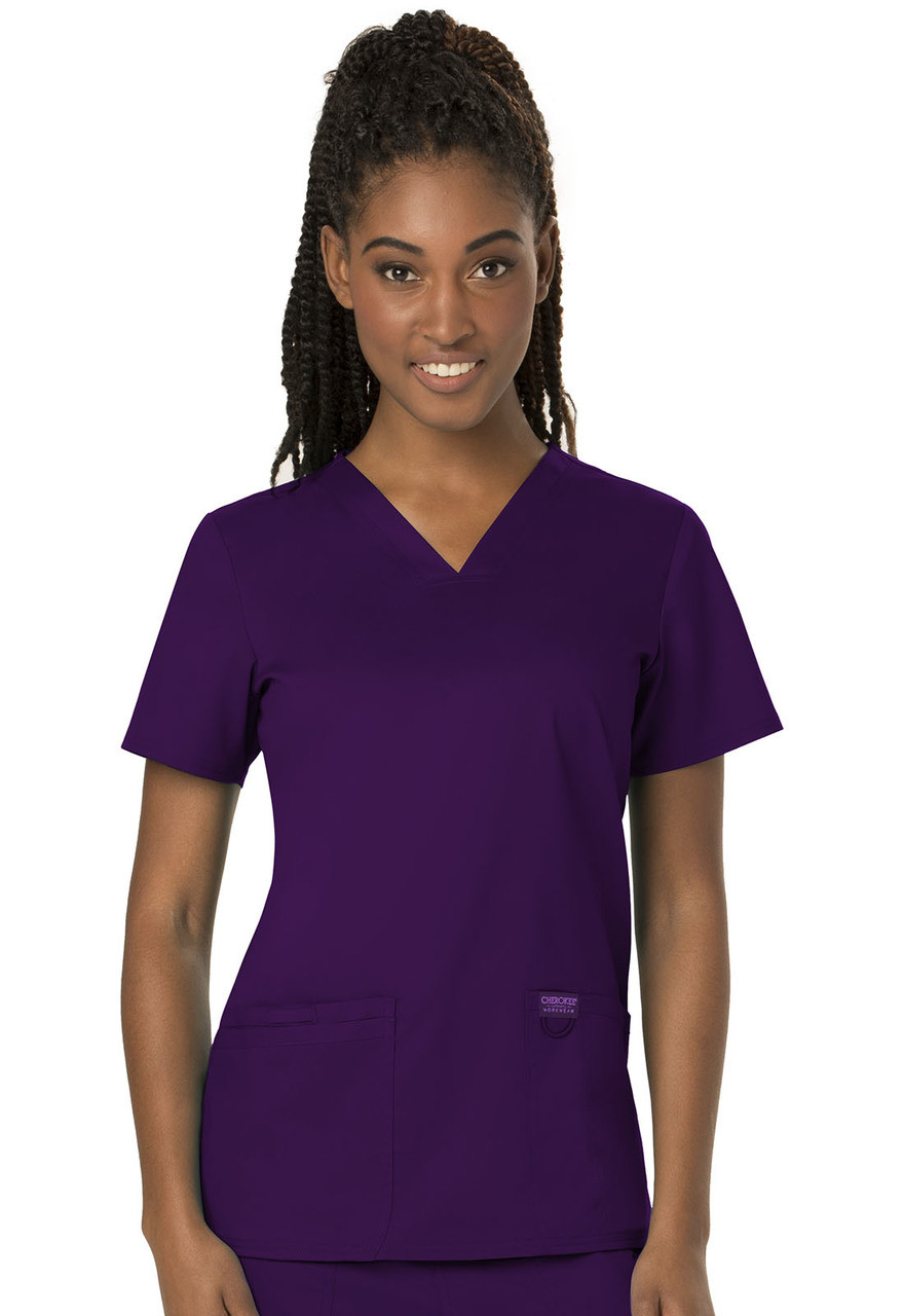 (WW620) Cherokee Workwear Revolution Scrubs V-Neck Top
