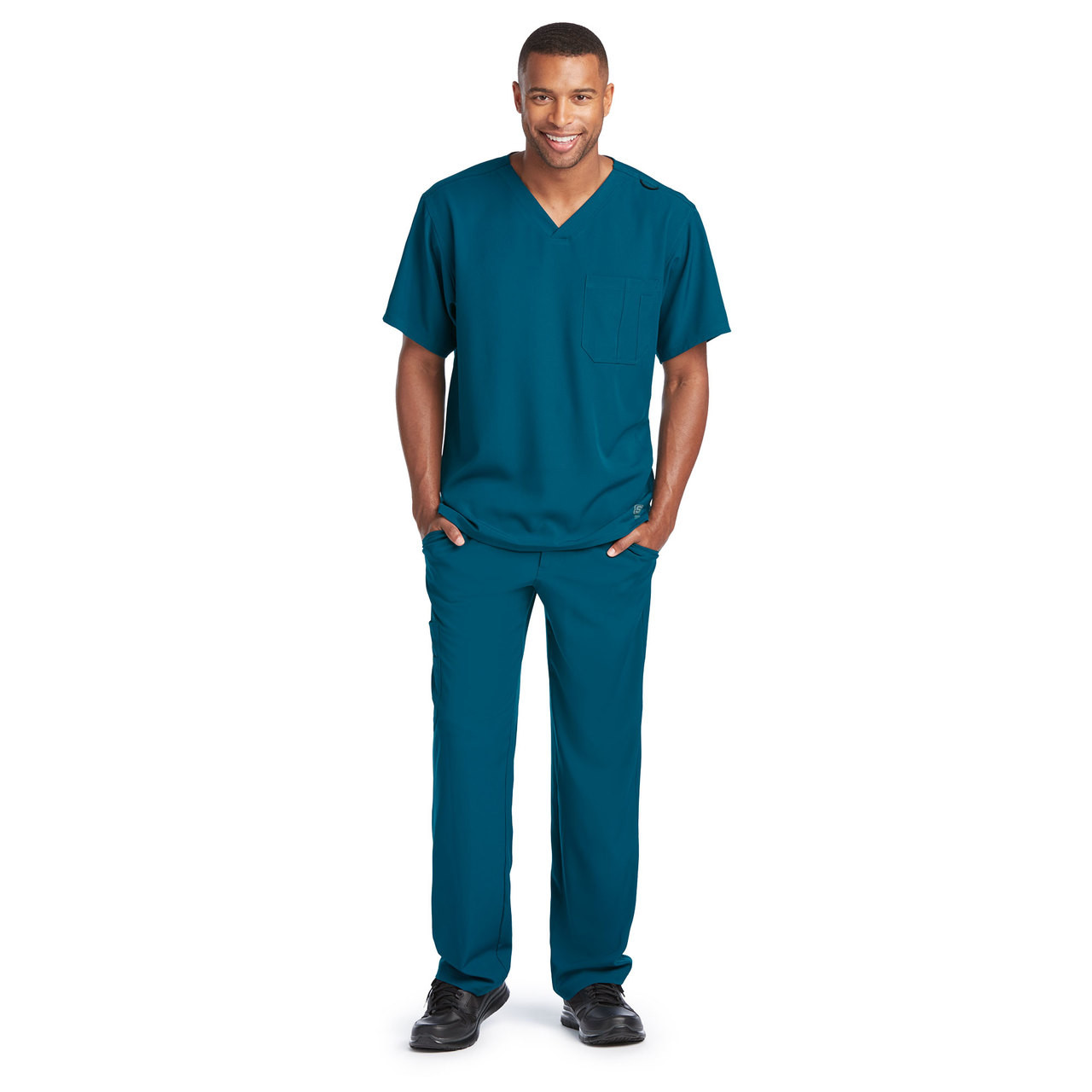 d415b287d983 (SK0112) Skechers Scrubs - Men s Structure 1 Pocket V-Neck Scrub Top ...