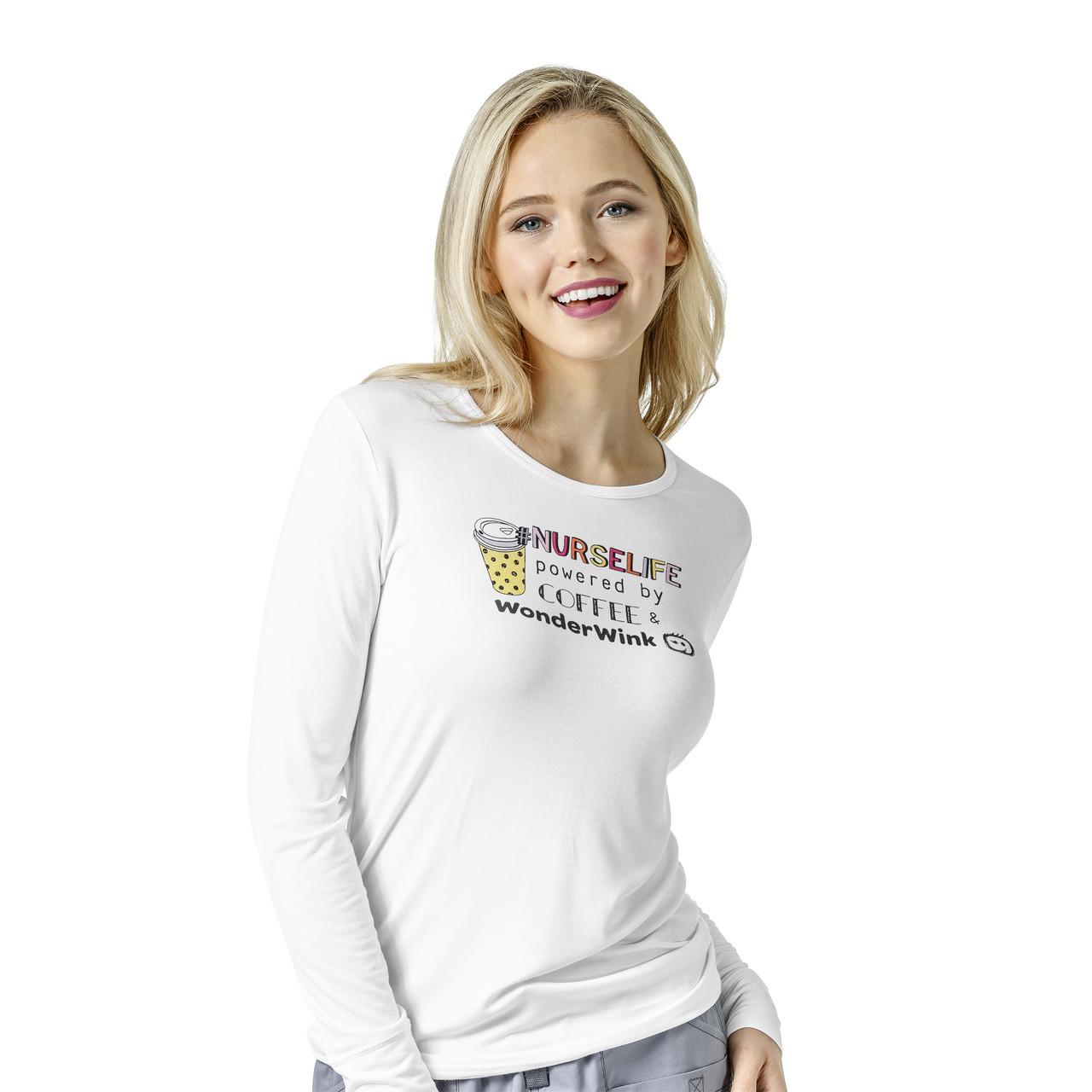 4c85dcd719fa8 (2609) WonderWink Layers Scrubs - Women's Silky Novelty Print Tee