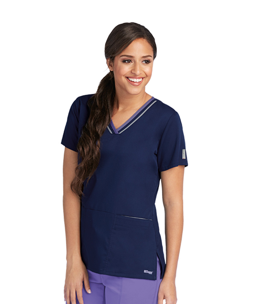 Grey/'s Anatomy Active Women/'s 41466 3 Pocket Color Block Top