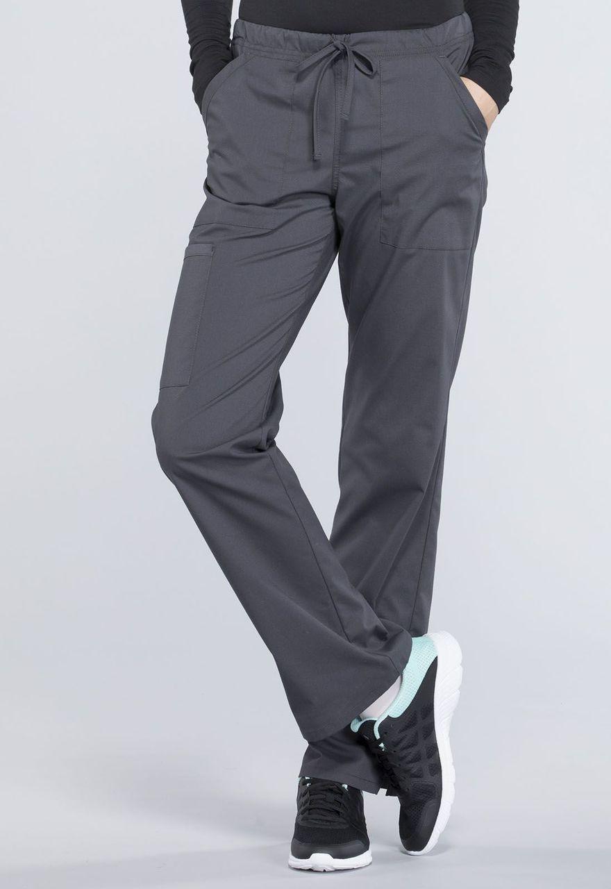288dc32b6e3 (WW160P) Cherokee Workwear Professionals Mid Rise Straight Leg Drawstring  Pant (Petite) ...