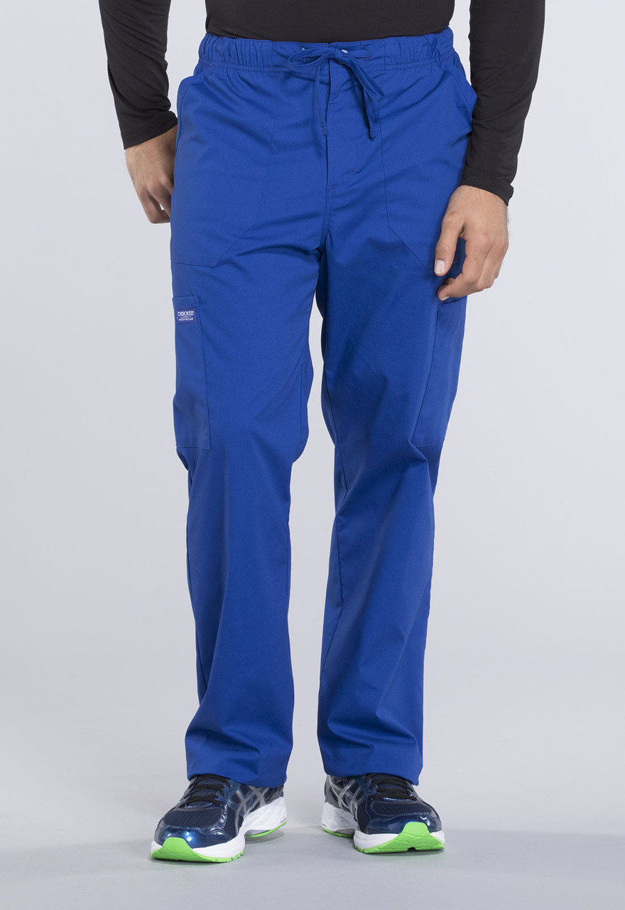 00e146876c (WW190T) Cherokee Workwear Professionals Mens Mid Rise Straight Leg Pull-on Cargo  Pant ...