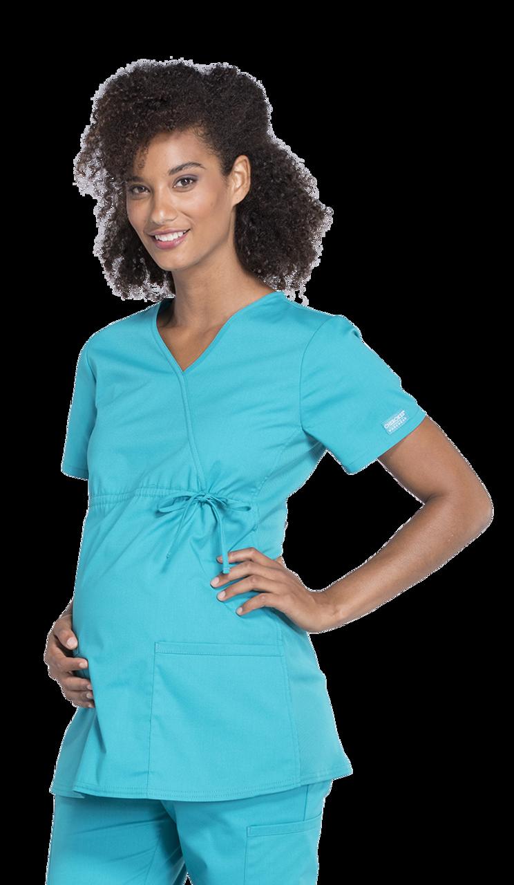 2fbf33ecef2bc (WW685) Cherokee Workwear Professionals Maternity Mock Wrap Top ...
