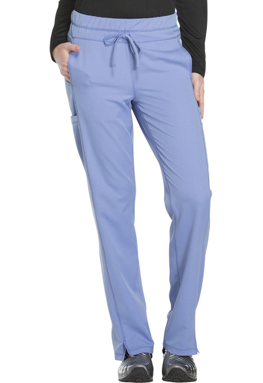 (DK130P) Dickies Dynamix Mid Rise Straight Leg Drawstring Pant (Petite)