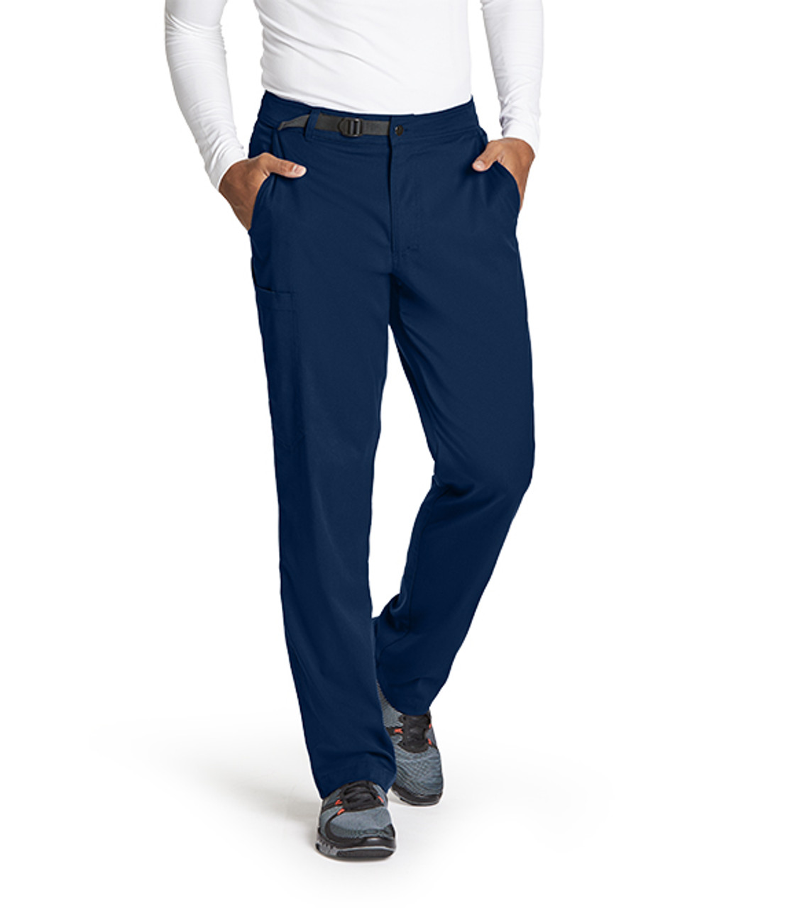 1291941bf01 (GRSP507) Grey's Anatomy Active Stretch Men's 4 Pocket Belted Waist Cargo  Pant ...