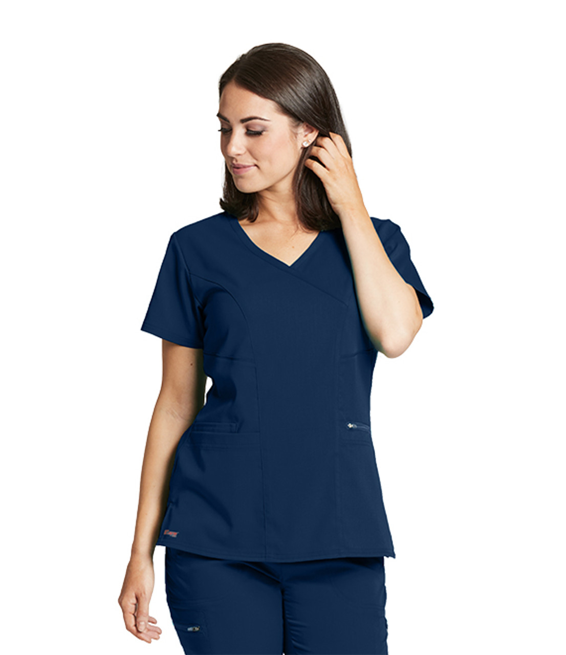 Grey s Anatomy GRST001 Women s Scrub Top. This top is made with top notch  stretch fabric that is essential for the busy workday of healthcare  professionals. 486bd8206f66