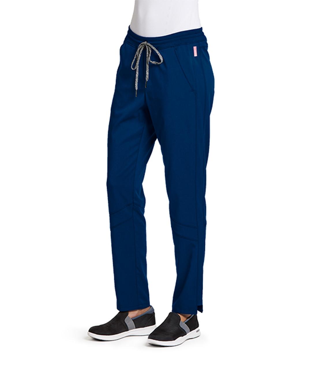 (GVSP509) Grey's Anatomy Active Stretch 3 Pocket Knit Waist Midrise Cargo Scrub Pant