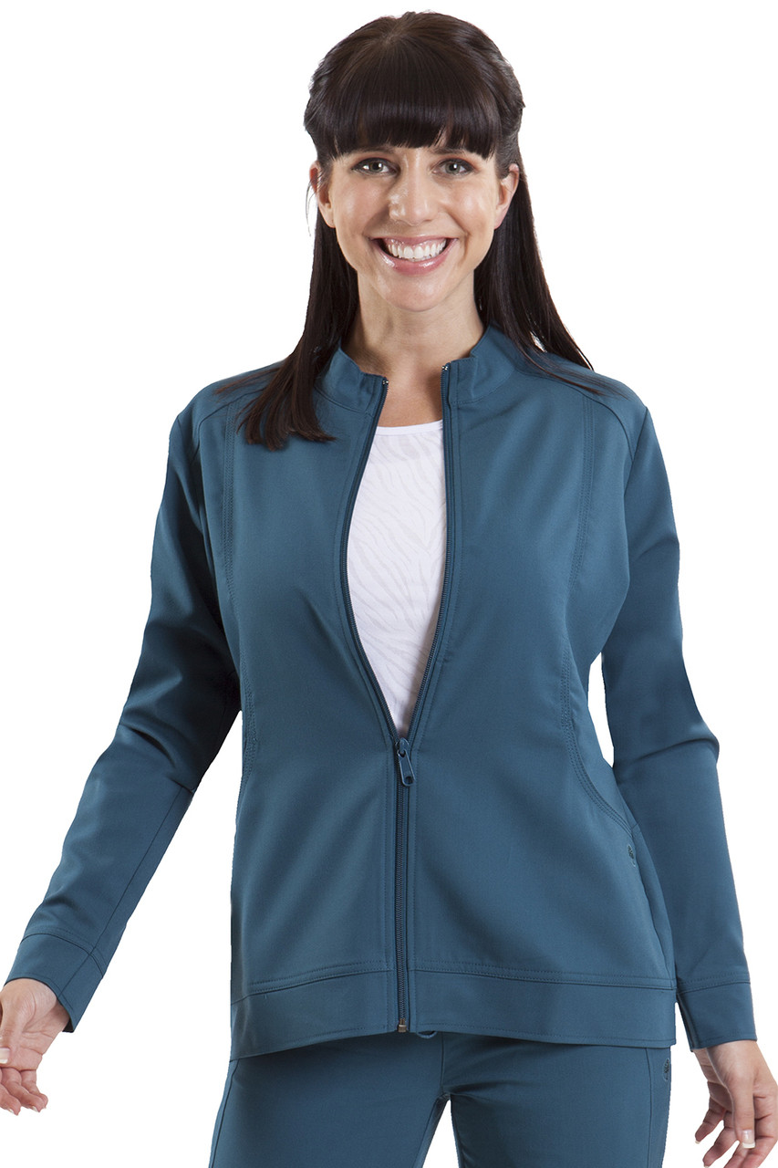 (5038) Healing Hands Purple Label Dakota Zip Front Scrub Jacket