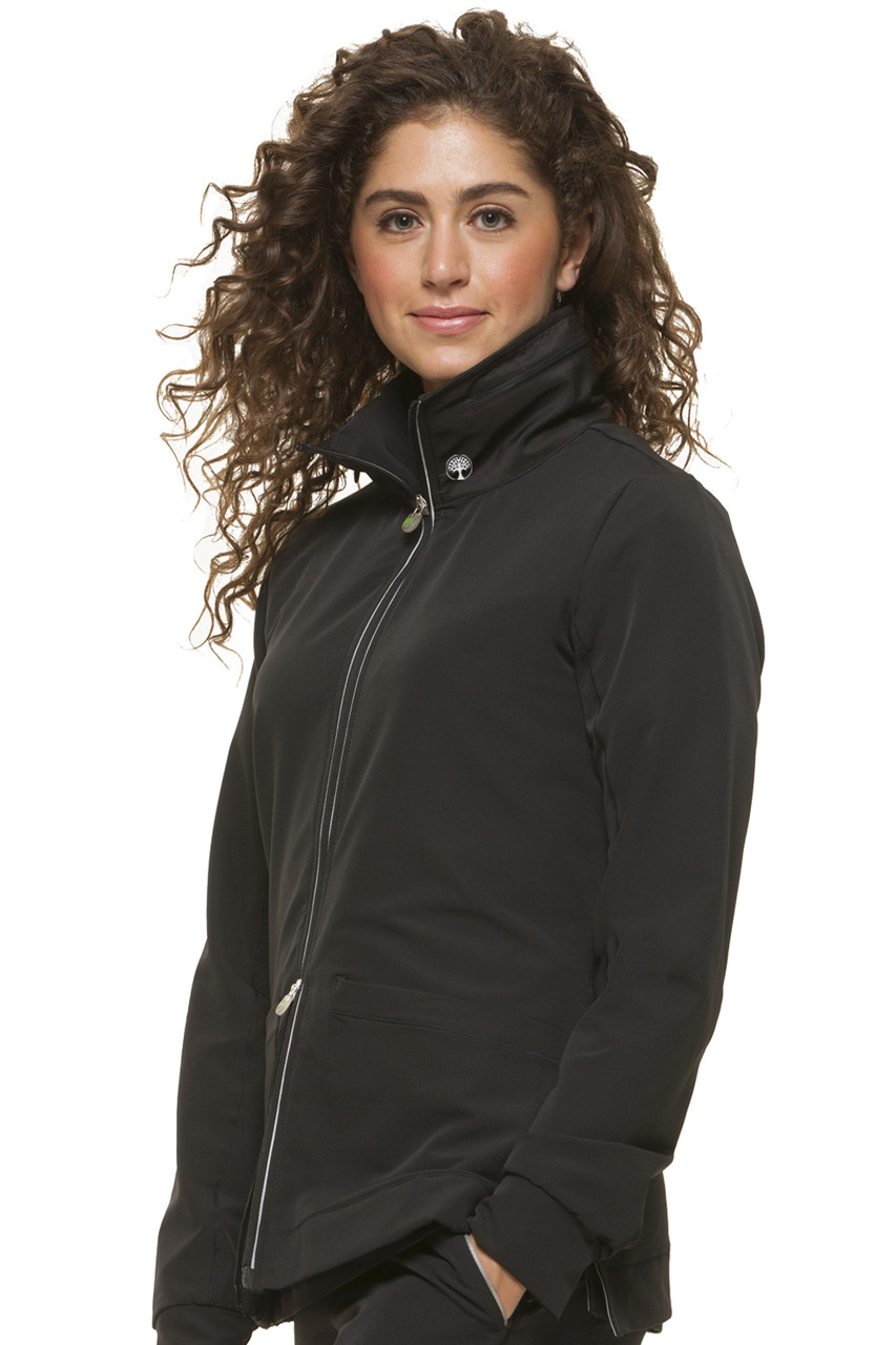 (5065) Healing Hands HH360 Carrie Zip Front Scrub Jacket