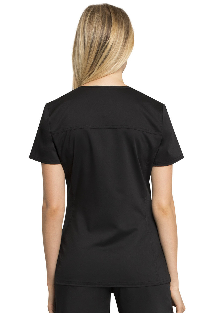 (WW735) Cherokee Workwear Revolution V-Neck Scrub Top - Back