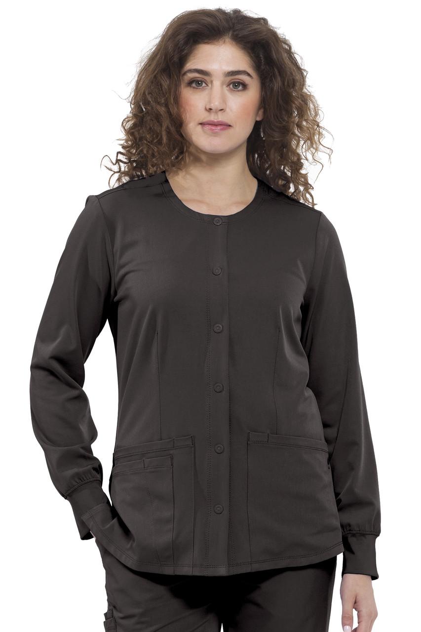 (5500) Healing Hands HH Works Megan 4 Pocket Snap Front Scrub Jacket
