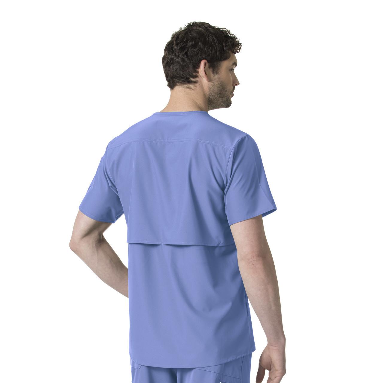 (C15106) Carhartt Liberty Men's Slim Fit V-Neck Scrub Top - Back