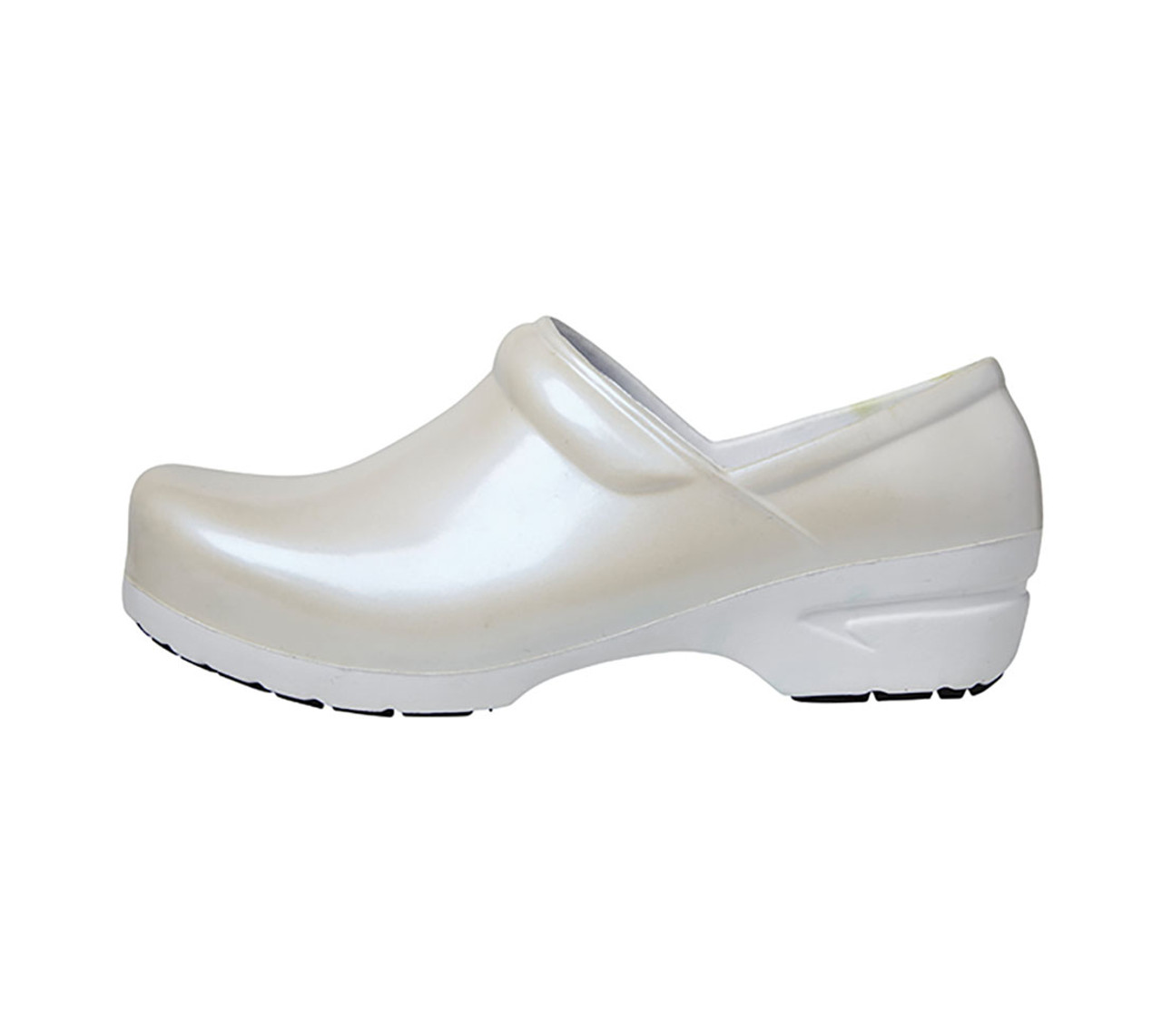 b8d7b06913b2 (SRANGEL-CRFA) Anywear White Pearlized-White Closed Back Plastic Clog ...