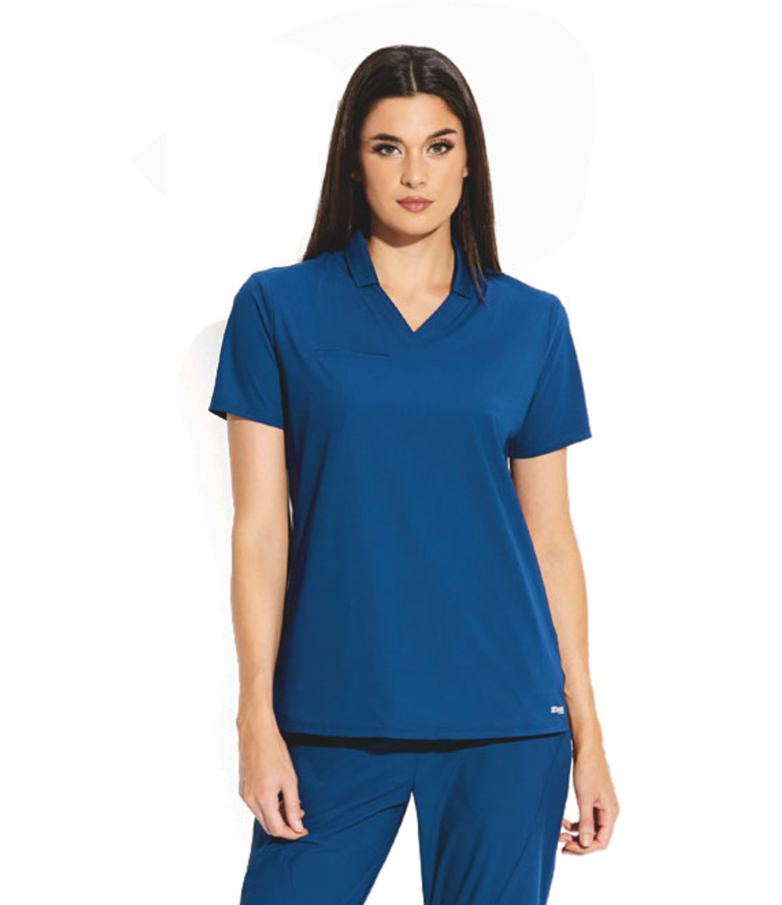 (GET006) Grey's Anatomy Edge Lyra 3 Pocket Polo Scrub Top
