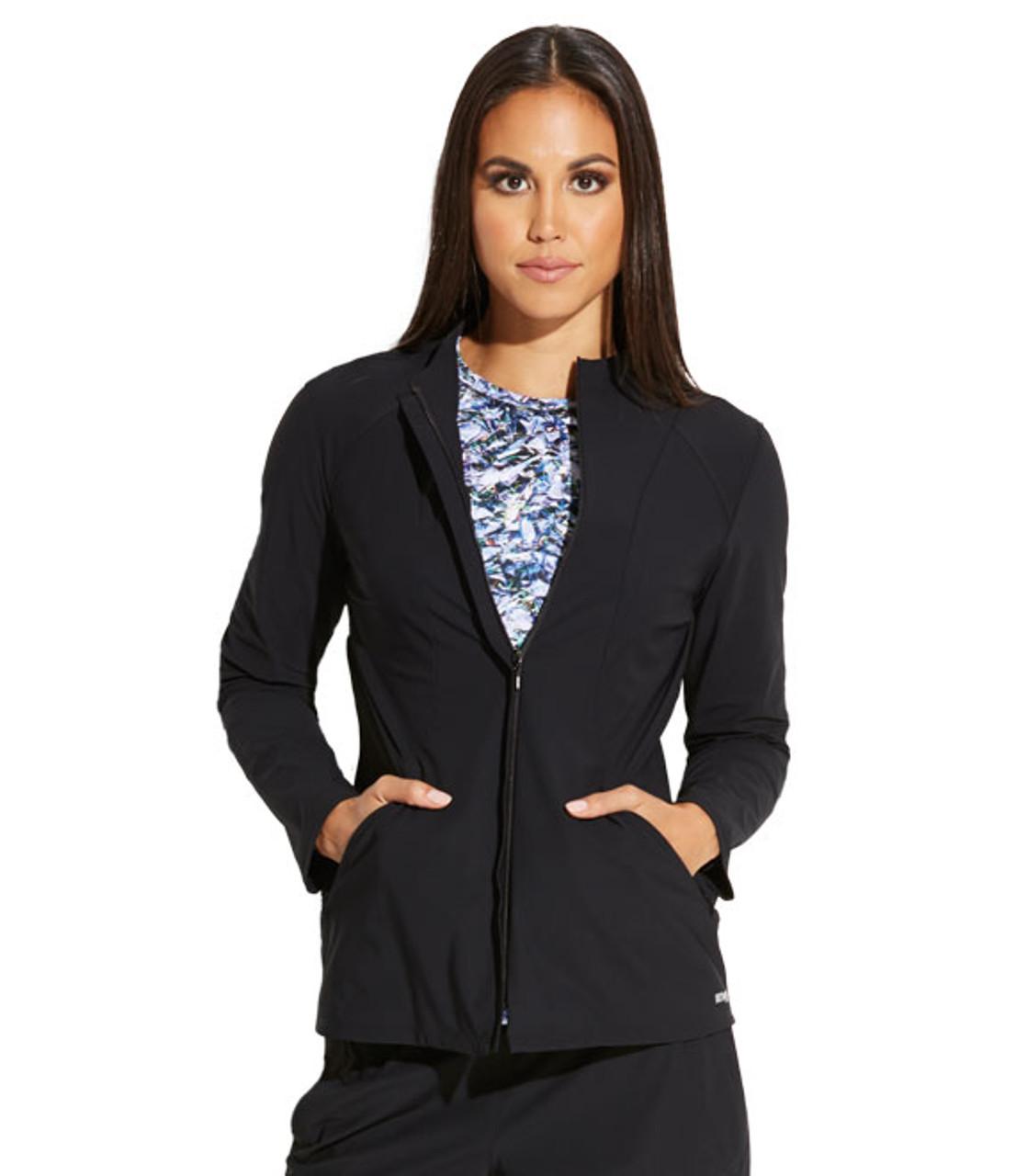 (GEJ004) Grey's Anatomy Edge Luna 2-Pocket Angled Seam Scrub Jacket