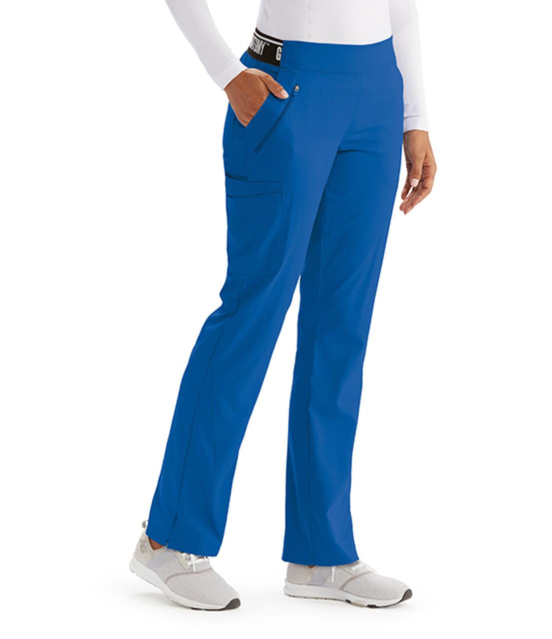 (GVSP515) Grey's Anatomy Spandex Stretch 4 Pocket Knit Waist Scrub Pants