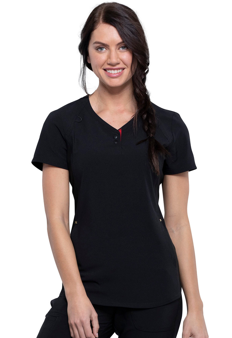 (CKK815) Cherokee The Katie Duke V-Neck Scrub Top