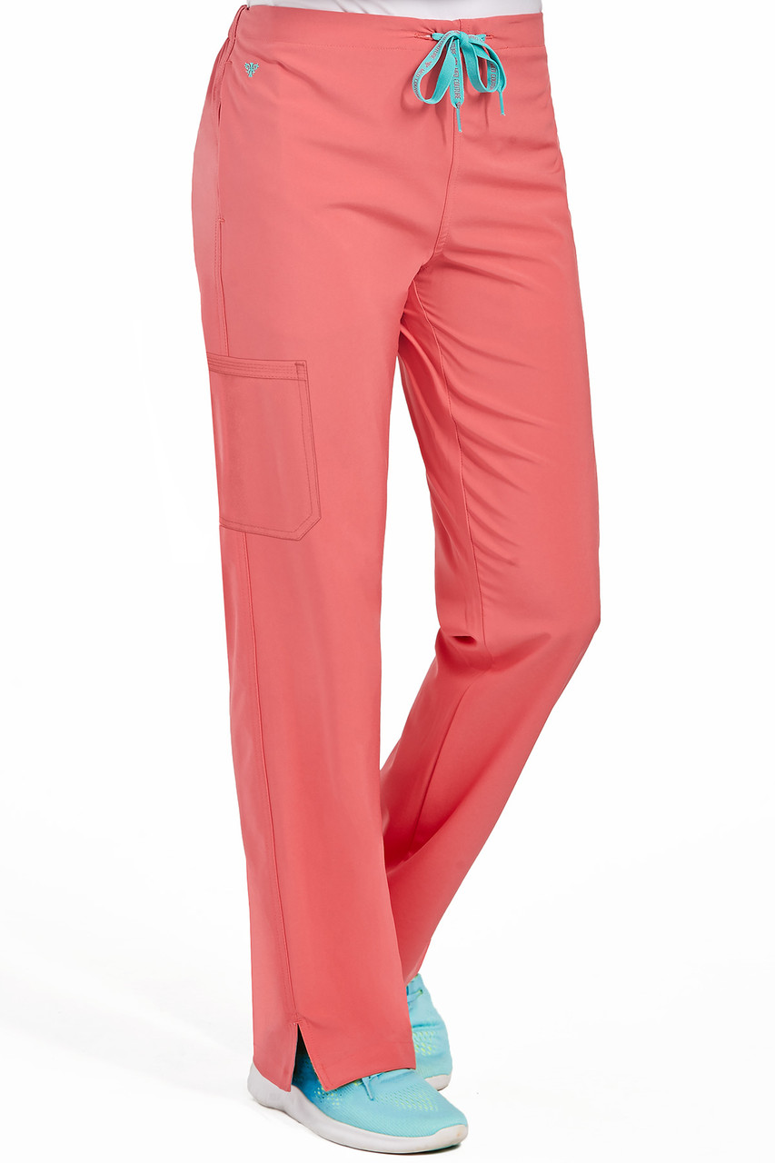 (8719P) Med Couture Energy Scrubs - Women's 1 Cargo Pocket Pant (Petite)