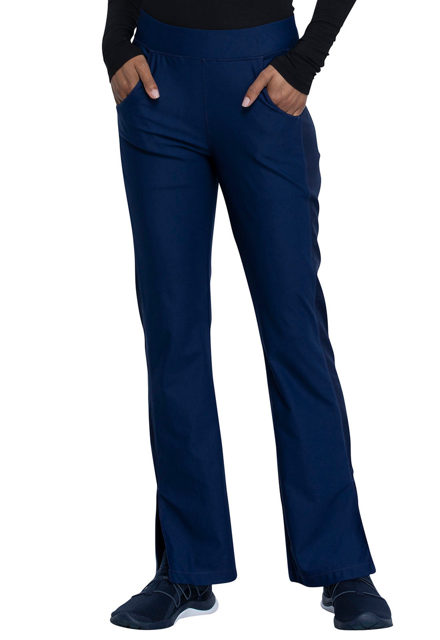 (CK091) Form by Cherokee Mid Rise Moderate Flare Leg Pull On Pant