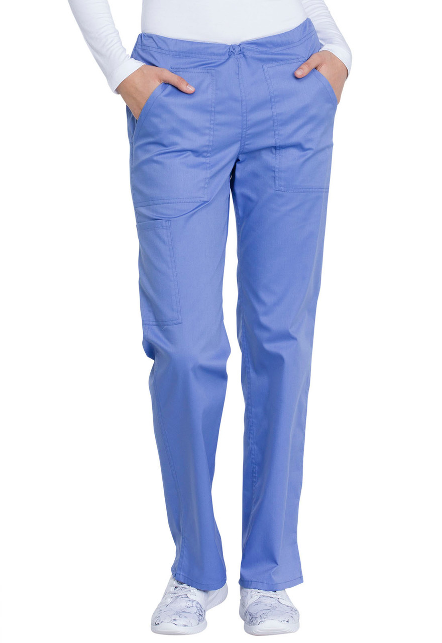 (GD100) Dickies Industrial Laundry Women's Mid Rise Straight Leg Drawstring Pant