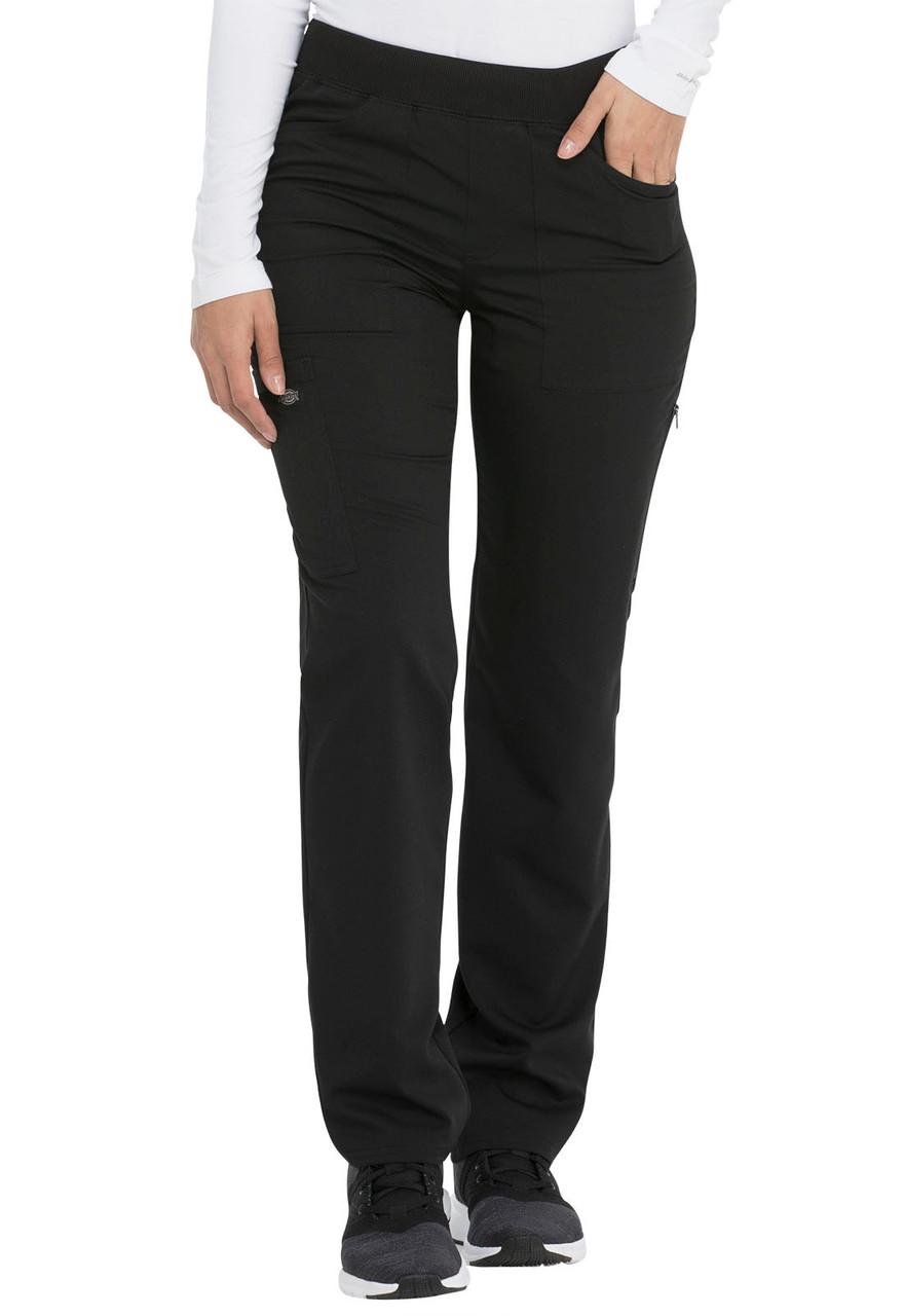 (DK135T) Dickies Balance Mid Rise Straight Leg Pull-on Pant