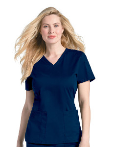(4125) Landau Pre-Washed Scrubs - Pre-Washed V-Neck Top
