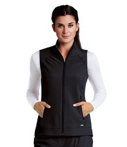 (5406) - Barco One Scrubs - 2pkt Shirred Princess Zip Vest