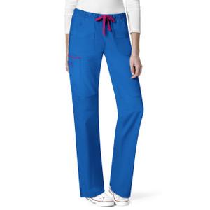 (5508P) WonderWink WonderFLEX Women's Joy-Denim Style Straight Pant Petite