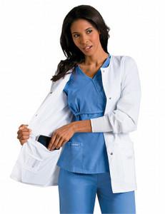 (7635) Landau Lab Coats - Women's Modern Notebook Lab Coat