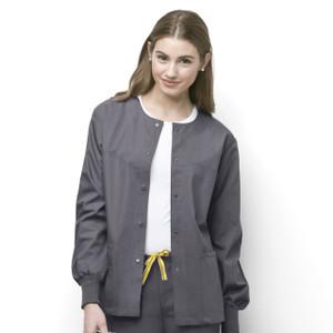 (8006) WonderWink Origins Scrubs - Unisex Delta Cuffed Snap Front Jacket