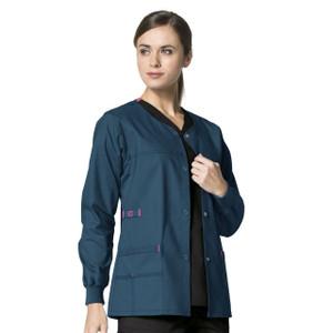 58ed918f281 (8108) WonderFLEX Scrubs - Constance Snap Jacket
