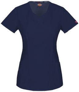 (85954A) Dickies EDS Signature Stretch Scrubs - 85954A Mock Wrap Top