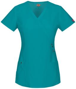(85956) Dickies Xtreme Stretch Scrubs - 85956 Mock Wrap Top