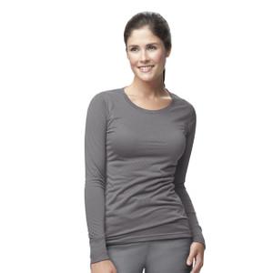 (C30109) Carhartt Knits & Sub-Scrubs Scrubs - Womens Long Sleeve Burnout Jersey Tee