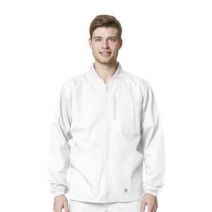 (C84108) Carhartt Men's Ripstop Scrubs - Mens Ripstop Zip Front Jacket