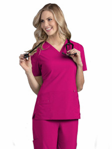 (S101002) Smitten MIRACLE Scrubs - ROCK GODDESS - SMITTEN TOP