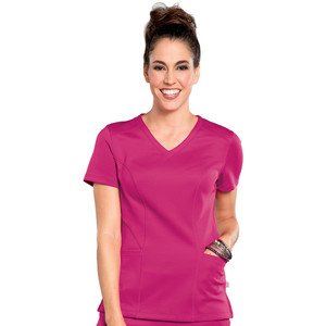 (S101027) Smitten BLISS Scrubs - ROCK STAR - SMITTEN V-NECK TOP