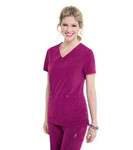 (S101033) Smitten Miracle Glam Crossover Scrub Top