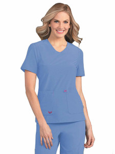 (S101034) Smitten MIRACLE Scrubs - NOTORIOUS SMITTEN LADIES TOP